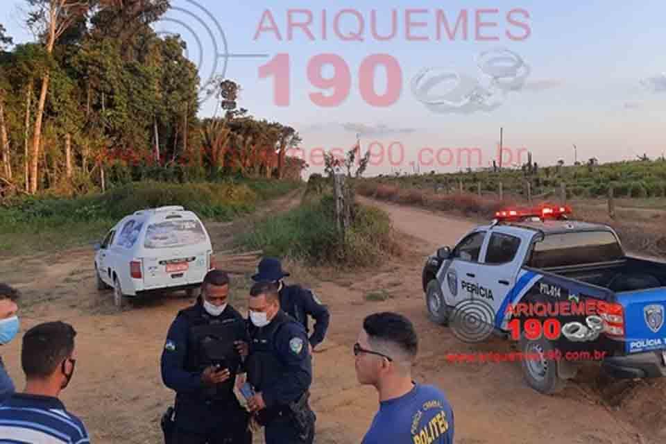 Corpo de idoso é encontrado com perfuração de arma de fogo na Linha C-85    Polícia   Rondônia Dinâmica