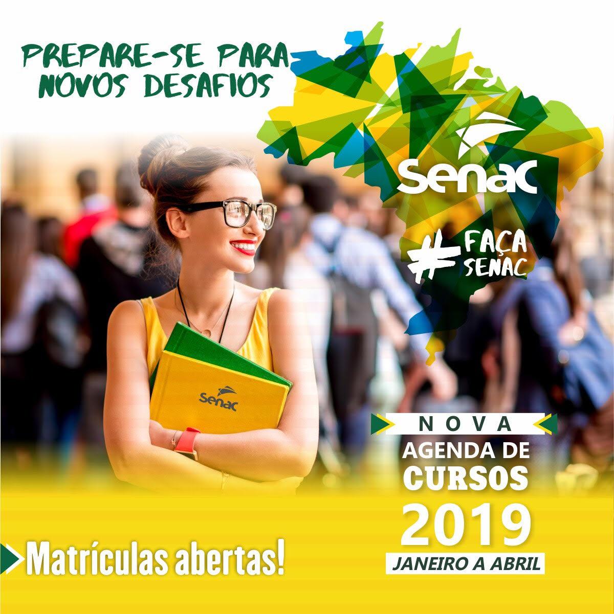 Senac Rondônia acaba de abrir vagas para os cursos da primeira programação do ano de 2019
