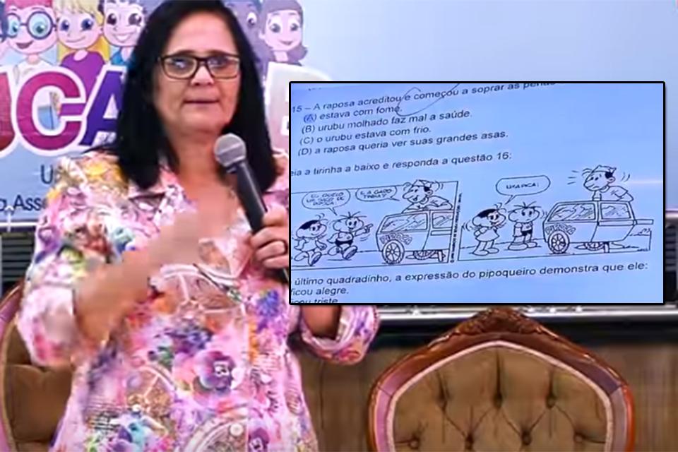 Ministra de Bolsonaro, Damares Alves diz que professores de Porto Velho aplicaram provas com conteúdo pornográfico a crianças de 8 anos