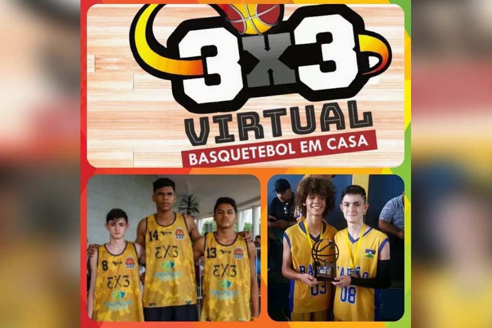 Jogadores de RO encaram Bahia no desafio virtual de basquete