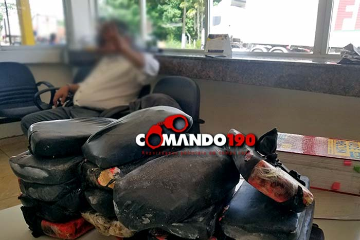 PRF prende advogado do Rio Grande do Norte transportando 18 quilos de Pasta Base