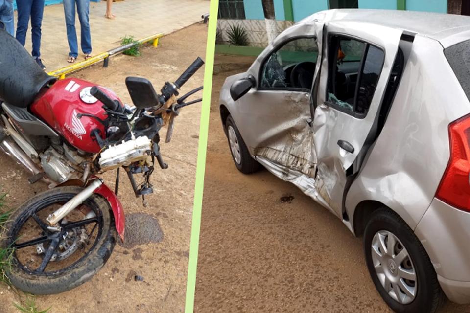 Motociclista em alta velocidade causa grave acidente na zona sul
