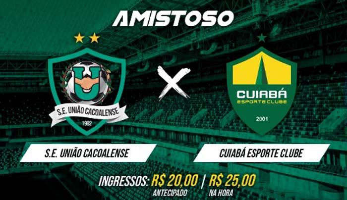 União Cacoalense confirma amistoso contra o Cuiabá