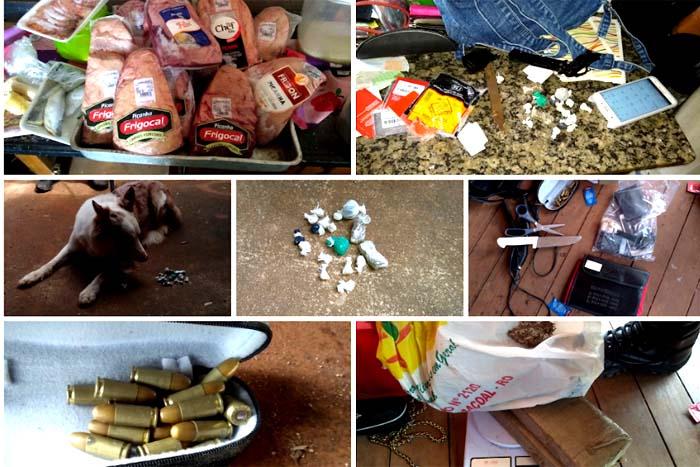 Drogas, munições e 16 peças de picanha são recuperadas pela Polícia Militar de Cacoal