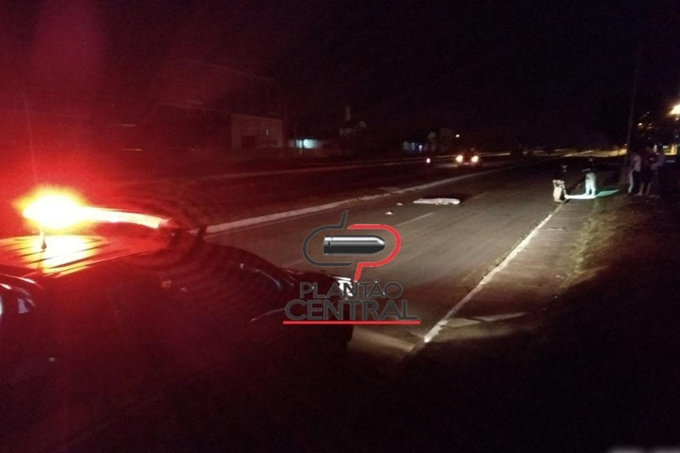Jovem de 24 anos morre atropelado na Marginal da BR 364 em Ji-Paraná