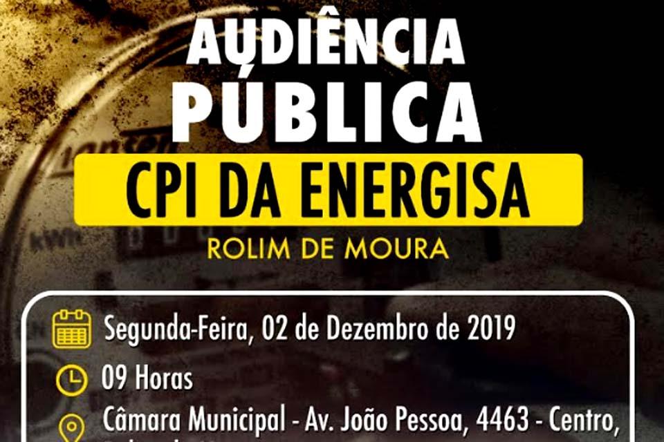 CPI da Energisa confirma Audiência Publica em Rolim de Moura no dia 02 de dezembro / Rondônia Dinâmica - Rondônia Dinâmica