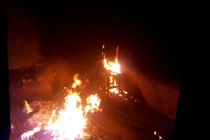 Porto Velho - Usuários de drogas ateiam fogo em residência