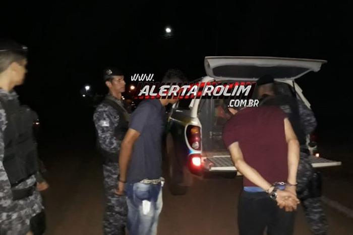 Bandidos são presos após invadirem casa e manter família refém