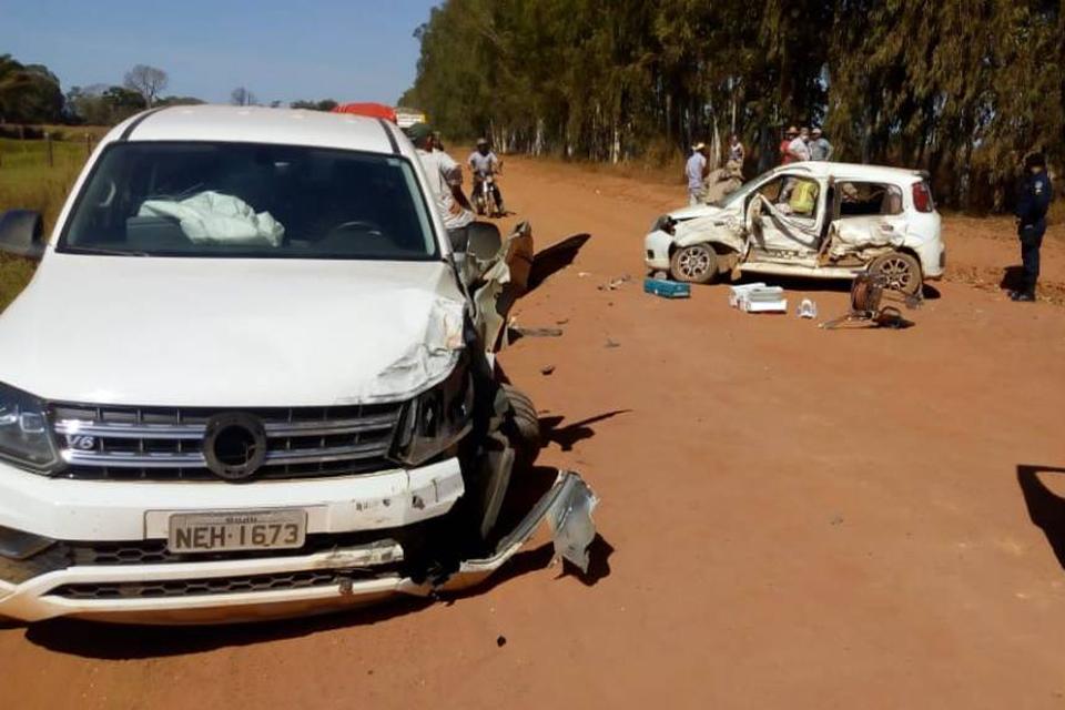 Homem de 68 anos morre em colisão entre veículos na área rural