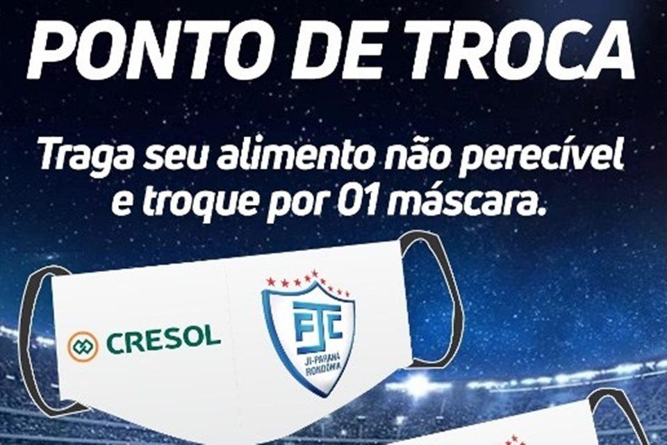 Ji-Paraná promove campanha de troca de alimento por máscara