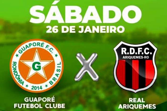 Guaporé e Real Ariquemes realizam amistoso neste sábado