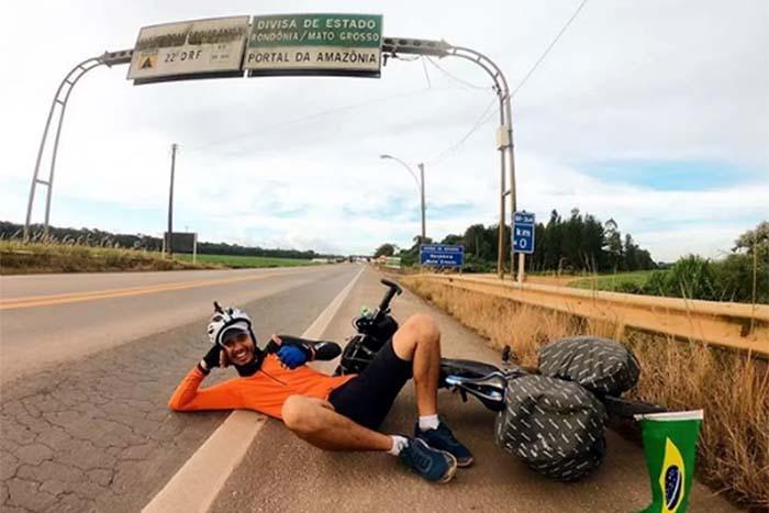 Empresário abandona rotina para pedalar até o Alasca