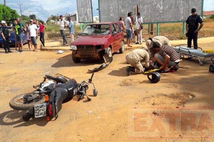 Acidente de trânsito deixa dois feridos em Vilhena