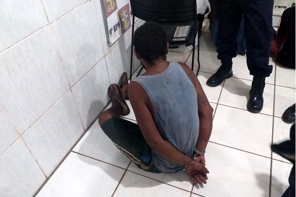 Morador de rua é preso  após tentar matar desafeto a facadas