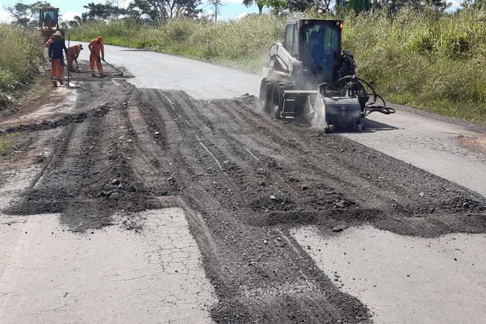 Departamento de Estradas de Rodagem intensifica ações de recuperação na RO-470