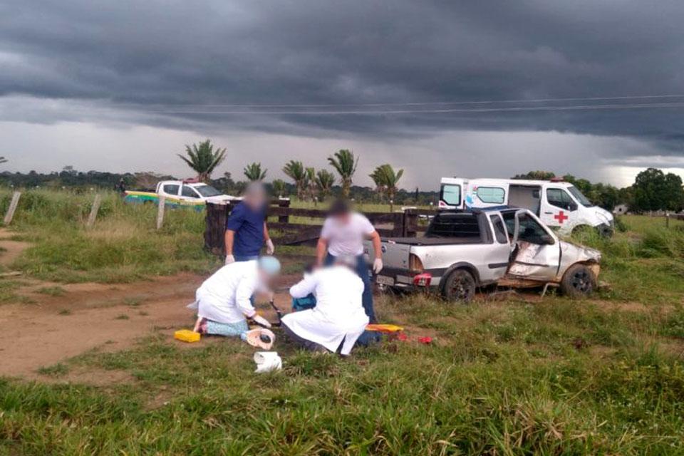 Mulher morre em acidente na RO 459 em Alto Paraíso