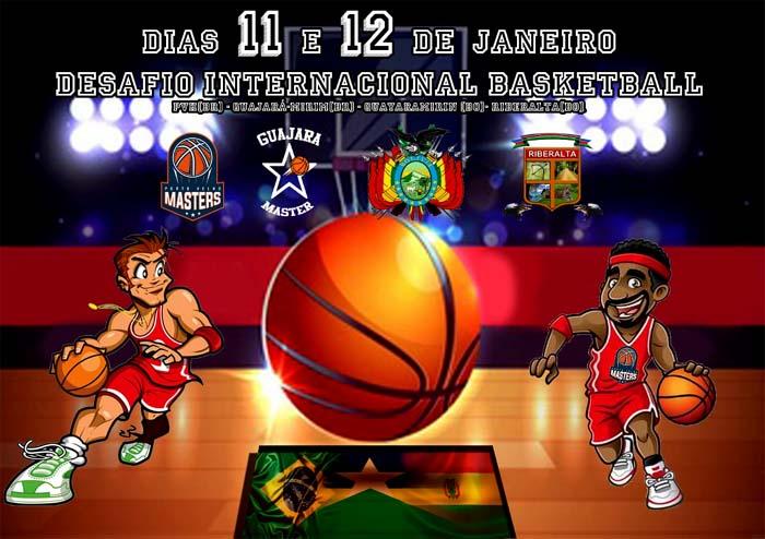 Brasil e Bolívia duelam em Desafio Internacional de basquete masters